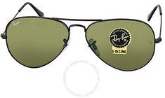5c6b65ba0a Ray-Ban Aviator Black/Green Sunglasses RB3025