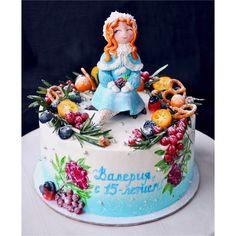 Тортик для зимней девочки.  Автор instagram.com/tort_spb_ #toprussiancakes #russiancakes