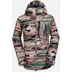 Volcom Mens Snowboard Jacket Shadow Hill Insulated Camouflage