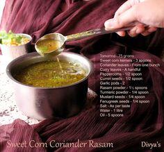 Sweet Corn Coriander Rasam