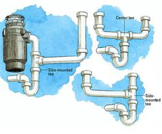 kitchen double sink with garbage disposal plumbing diagram alternative trap configurations - Kitchen Sink Drain Configurations