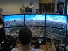 What do video gamers have? A home video game room naturally. Have a look at this post on amazing video game room ideas for your cellar Gaming Computer Setup, Computer Station, Gaming Station, Gaming Room Setup, Pc Setup, Gaming Rooms, Computer Science, Computer Workstation, Gaming Pcs