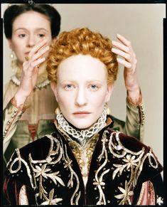 """allofstunning: """" Cate Blanchett and Emily Mortimer for the film Elizabeth December 1997 by Richard Avedon """""""