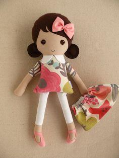 Reservado para Kristen  muñeca de trapo de muñeca por rovingovine