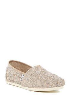 Classic Crochet Glitter Slip-On