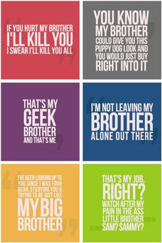 The best brother quotes by the Winchesters