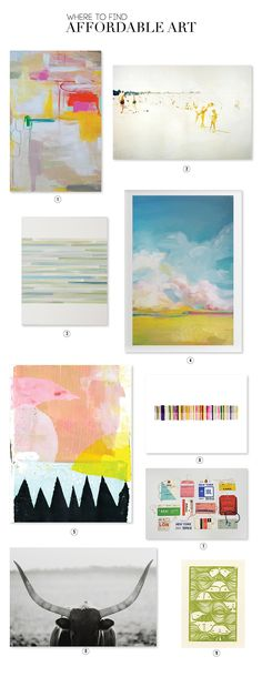 We're sharing our favorite places for affordable art online. Take a peek at our Favorite Affordable Art for Your Walls.