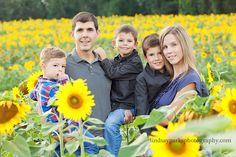 I dream of having a family portrait done in a sunflower field someday