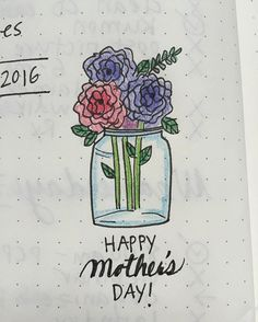 Happy Mother's Day! Doodle inspiration from the talented @alexandra_plans!  #doodle #doodlewithusinmay #bulletjournalcommunity #leuchtturm1917