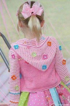 39 New Ideas Crochet Kids Poncho Pictures Diy Crochet Cardigan, Crochet Dress Girl, Crochet Baby Sweaters, Gilet Crochet, Crochet Girls, Crochet Baby Clothes, Crochet For Kids, Knit Crochet, Knitted Baby