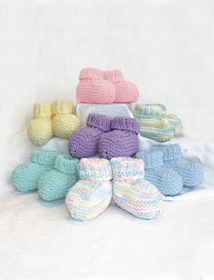 Knit Baby Booties | Free Pattern Yarnspirations