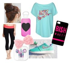 """""""Morning Hike"""" by nat-cat-iconic ❤ liked on Polyvore featuring NIKE, Old Navy, bkr and Pin Show"""