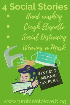 CDC guidance for COVID-19 turned into social stories to help those with developmental disabilities understand mask-wearing, social distancing, handwashing and cough etiquette. Autism Parenting, Kids And Parenting, Parenting Tips, Adhd Kids, Children With Autism, Social Stories Autism, Adhd Brain, Adhd Strategies, Social Anxiety Disorder