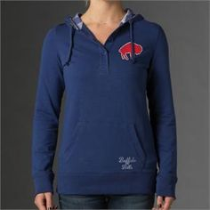'47 Brand Buffalo Bills Women's Showtime Slim Fit V-Neck T-Shirt - Red