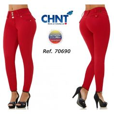 Basic Style, Wide Waistband for Better Comfort, Skinny Jean, With Simulated Pocket, Fits True to Size, 3 Buttons in Front and Zipper, Heavy Fabric With High Elasticity, Peach Skin Fabric Basic Style, Blouse Styles, New Product, Polyester Spandex, Short Sleeves, Skinny Jeans, Zipper, Casual, Fabric
