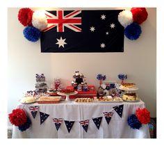 Australia day candy buffet.