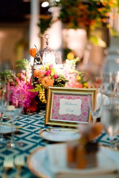 Not suggesting these colors, but rather the style of fabric and how it looks with the table decor