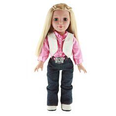 "18"" Be My Girl Rodeo Rose doll. Manufacturer's 1-year Limited Warranty · Model# BMG903 · Sale Price $44.99 Kohls [Box] http://media.kohls.com.edgesuite.net/is/image/kohls/1926813_ALT?wid=882&hei=882&op_sharpen=1"
