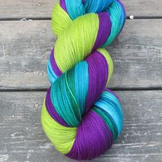 SGhoulish, Impatiens, Smurf And Turf - Yummy Trio | Miss Babs Hand-Dyed Yarns & Fibers, Inc.