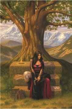 lockstone of gaelkinnen - by Larry Elmore | Featured Artist on the Fantasy Gallery
