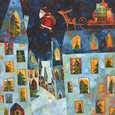 Pinzellades al món: Pare Noel en plena feina, repartint regals / Papá Noel en pleno trabajo, repartiendo regalos / Santa Claus at work, giving gifts