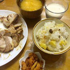 #自宅メシ - 15件のもぐもぐ - 栗ご飯、味噌汁、叉焼 by maixx0419