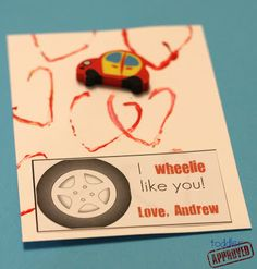 "Toddler Approved!: I ""Wheelie"" Like You {Simple Homemade Valentine}"