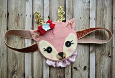 Felt Owl Headband- Owl Headband with vintage millinery flowers, fall fashion, woodland. $24.00, via Etsy.