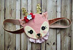 Felt Owl Headband- Owl Headband with vintage millinery flowers, fall fashion, woodland. $24.00, via Etsy.