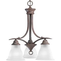 Progress Lighting Trinity Collection Cobblestone 3-Light Chandelier-P4324-33 at The Home Depot $54.98 online