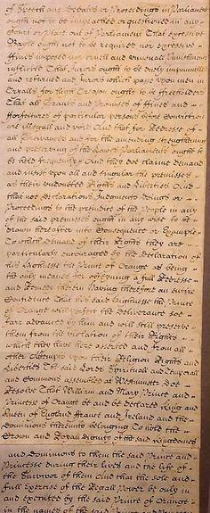 Bill of Rights, 1689 (3)