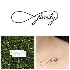 Infini  famille  tatouage temporaire ensemble de 2 par Tattify, $5.00