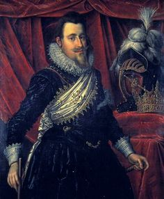 CHRISTIAN IV, King of Denmark & Norway (1577 - 1648) / By Pieter Isaacsz, 1612.