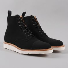 Mark McNairy Derby Boot - Black Suede