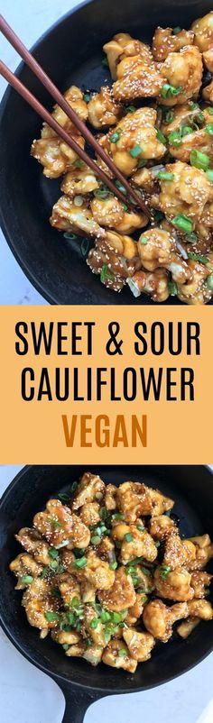 Sweet & Sour Cauliflower - Vegan