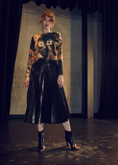Golden Girls Pleated Skirt by Romance Was Born