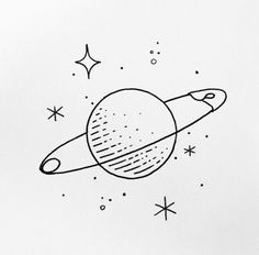 Doodle art 625930048196422175 - 55 Cool & Easy Things to Draw in Your Sketchbook // Easy things to draw, drawing ideas, doodles, planet drawing Source by shihoriobata Space Drawings, Mini Drawings, Cute Easy Drawings, Cool Art Drawings, Pencil Art Drawings, Doodle Drawings, Drawing Sketches, Drawing Ideas, Sketchbook Drawings