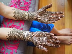 Nina's palms for her wedding by HennaLounge, via Flickr