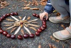 Beautiful mandala made with natural materials Autumn Crafts, Autumn Art, Nature Crafts, Land Art, Autumn Activities, Activities For Kids, Diy For Kids, Crafts For Kids, Reggio Emilia