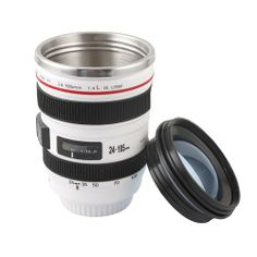 Apollo23 Stainless Steel Liner Camera Lens Cup Mug Canon EF 24-105mm F4 Filter for Coffee Milk Water