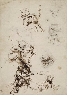 Studies of the Child and a cat