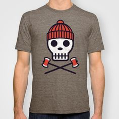 """LumberSkull prints, t-shirts, and more available on Society6, Zazzle, Redbubble, and Cafepress under my """"geardesignworks"""" store front."""