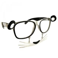Costume Accessory - Panda Clear Lens Furry Shades - Costume Accessory Includes one pair of novelty costume glasses. One size fits most adults or teens. Laugh it up and let your wild side out with these entertaining glasses.  Great for parties or costumes