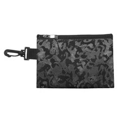 Modern Camo -Black and Dark Grey- camouflage Accessory Bag - marble gifts style stylish nature unique personalize