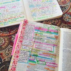 Comprehensive high lighting and note taking guide for anyone wanting to try bible journaling. http://thesoulscripts.com/books-1/brighten-your-bible-study