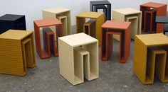 Jeb Jones Furniture - Simple wood table and stools