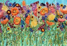 flowers, embroidery by Michelle Mischkulnig (Chelle Textiles)