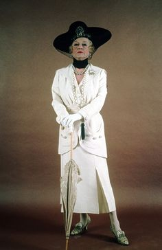 "Bette Davis as Mrs.Van Schuyler in ""Death on the Nile"" (1978) - Costume designer : Anthony Powell"