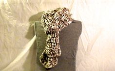 Chunky and soft, double crocheted scarf