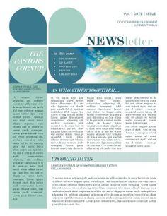 Mission Update Newsletter Template |#Newsletter Templates #design